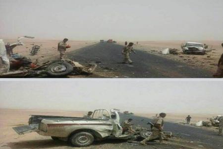 وفاة 7 واصابة اخرون بينهم عسكريون اثر حادث مروري شمال شرق صافر