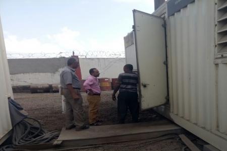 كهرباء عدن تدشن صيانة محطة شهيناز