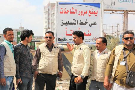 هيئة النقل فرع- عدن تنفذ حملة لتنظيم حركة الشاحنات في عدن